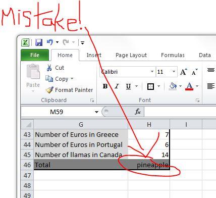 RandR Excel error